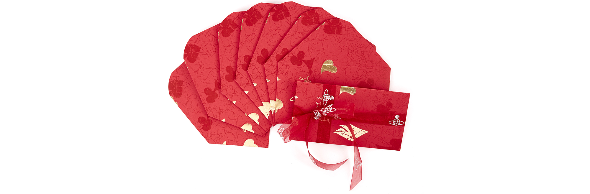To celebrate Chinese New Year, Vivienne Westwood has beautifully designed the CNY Envelopes. Produced in a set of eight and tied with ribbon, purchase your stationery now while stocks last.